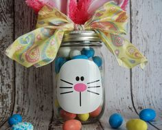 Here is a cute and easy idea to turn a mason jar into a cute Easter gift.  It's perfect for teachers, neighbors, friends and family! All you need are a few simple supplies: mason jar, candy, vinyl bunny face, ribbon and bunny ears (I found mine at Walmart for under a buck). You can also … Read more...
