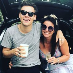 Harry Styles and his mother