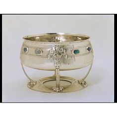 Art Nouveau Bowl - 1904-5 - designed by Bernard Cuzner (English, 1877-1956), Birmingham, England - Victoria and Albert Museum - @~ Mlle
