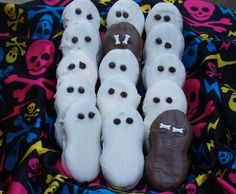 Halloween Ghosties Nutter Butter cookies