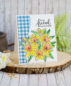 Houses Built of Cards: SSS Reason to Smile Hop - Daffodil Bouquet - and GIVEAWAY!!!