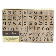 Recollections Wood Stamp, Alphabet & Numbers Set