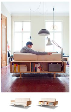 Draper Couch, someone's home built couch.  Plans are in a book you can buy.