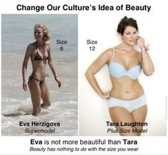 Eva -- unhealthy body, she needs to gain weight. Tara -- healthy body, looks beautiful. Curves are beautiful because at least some curves are healthy and normal. Whatever body type you have naturally, be healthy, not sick. Def Not, Thats The Way, Plus Size Model, Up Girl, Thing 1, Loving Your Body, Body Image, Johnny Depp, Real Women