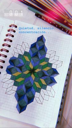 Graph Paper Drawings, Graph Paper Art, Doodle Drawings, Easy Drawings, Doodle Art, Geometric Quilt, Geometric Drawing, Geometric Art, Blackwork Patterns