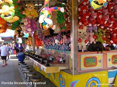 Fun and games at the Florida Strawberry Festival in Plant City, Florida.