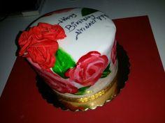 Rose cake by elina