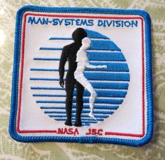 """Rare Vintage 3-1/4"""" NASA JSC Man-Systems Division Embroidered Patch Mint"""