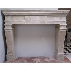 Need to remember this company Reproduction limestone fireplace - Exquisite Surfaces Stone Fireplace Surround, Limestone Fireplace, White Fireplace, Faux Fireplace, Modern Fireplace, Fireplace Ideas, Fireplace Mantels, Diy Mantel, Marble Columns
