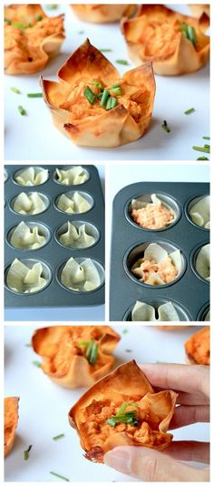 Skinny+Buffalo+Chicken+Wonton+Cups_2