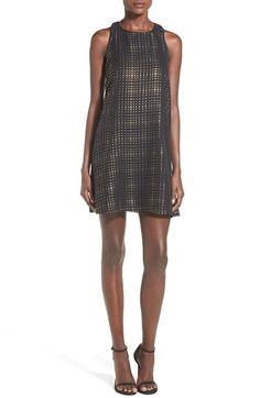 Chelsea28+Metallic+Dot+Shift+Dress+available+at+#Nordstrom