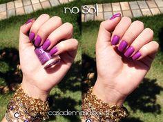 Esmalte Make B. O Boticário Lilac Cream www.blogcasademaria.com.br