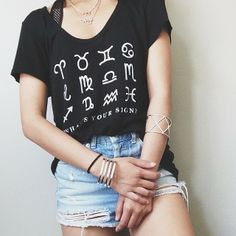 What's Your Sign flowy tee $36