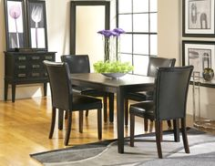Dakota Sky Line Rectangle Dining Room with 4 Belvedere Chairs
