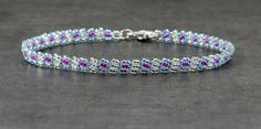 Hey, I found this really awesome Etsy listing at https://www.etsy.com/listing/151069971/chain-anklet-beaded-aquamarine-fuschia