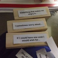 Getting to Know You Jenga. Geared toward middle or high school students, but could also be appropriate for elementary students. Useful as a way to break the ice in an individual or group counsleing session. It was found by a post from a NASP member through facebook.