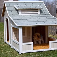 dog house idea. Riley needs this esp since he loves sunbathing on the porch!