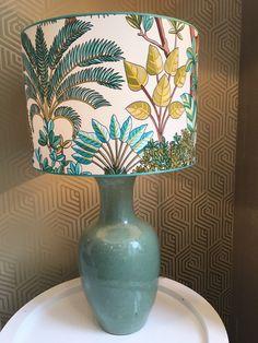 Lamp shade of fabric Manuel Canovas Bohemian Interior, Bohemian Decor, Bohemian Style, Unique Lamps, Shades, Lighting, Wallpaper, Fabrics, Home Decor