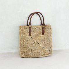 Straw Bag Tote Straw Tote BagBeach Bag di MOOSSHOP su Etsy