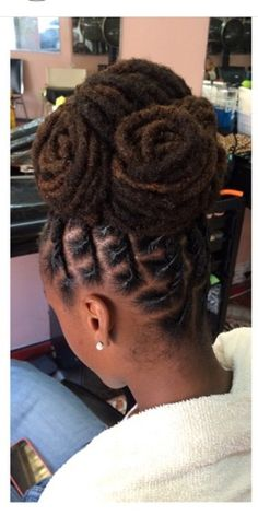 Loc up-do!  |  Black Women Natural Hairstyles