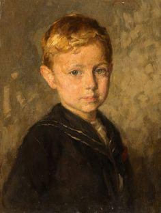 Portrait Of A Boy - Simon Glücklich (1863 – 1943, Polish-born German)