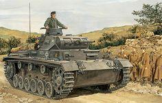 Panzer III modelo F perteneciente a la 2ª División Panzer, Francia, 1940.