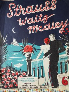 STRAUSS WALTZ Medley Piano Accordion Sheet Music by FoxVintageUk