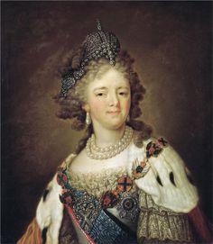 Portrait of Empress Maria Fyodorovna  Vladimir Borovikovsky