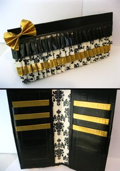 Gold Ruffled Duct Tape Wallet by Raindrop Wallets...so cute