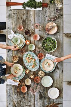 rustic table spread