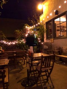 Our Patio In The Evening! Alfresco Twinkle Lights Hollywood Front Porch
