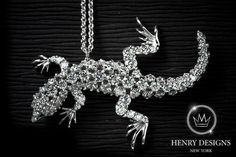 #Gecko - #Jewelry #Stylish #Accessory #Design #Fashion #HenryDesigns #Trendy #Style #Look #Fashionable #Collection #necklace #diamonds #diamond