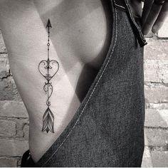 60+ Cute Summer Tattoo Art Design Ideas For Woman:Black Fine Line Tattoo