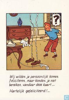 Carte postale - Pays-Bas, les - We wilden je persoonlijk komen feliciteren