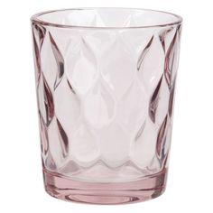 Gobelet en verre teinté rose