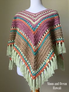 Crochet poncho by moonandoceanhawaii on Etsy