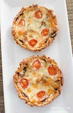 Caramelised Onion, Tomato and Mozzarella Filo Tart | Slimming Eats - Slimming World Recipes