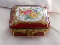 Antique French Miniature Size Hand Painted & Gilded Porcelain de Paris from tresors-de-belles on Ruby Lane