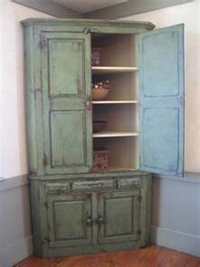 Circa 1920s Hand Painted Corner Cupboard Cupboards And