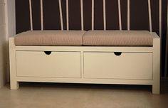 Banco pie de cama cajones Luster en Ámbar Muebles