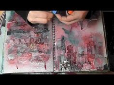 Mixed Media Friday - Art Journal Using your Scraps - YouTube