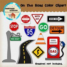 En el camino Clip Art por AllDigiDelights en Etsy