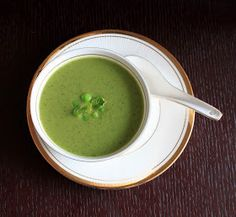 Say cheese: Pea and Mint Soup
