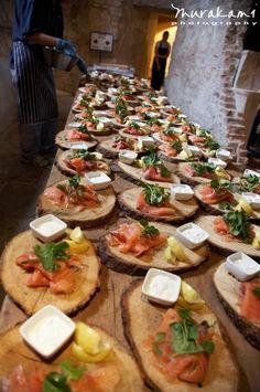 Wooden Wedding Breakfast Plates