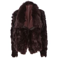Reversible Burgundy Shearling Coat ($1,598) ❤ liked on Polyvore featuring outerwear, coats, red, cold weather coats, shearling collar coat, red coat, drape collar coat and yves salomon