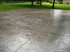 Italian Slate stamped concrete pattern installed by Cornerstone Custom Concrete, www.minneapolis-concrete.com