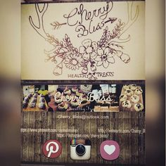 """Yay my """"business"""" cards came :P #rustic design. #beautiful #awesome #healthy #treats #cherrybliss #Pinterest #business #smallbusiness #creative #eat #food #foodie #design #weheartit #deer #drawing #instagram @vistaprint"""