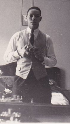 Colin Powell taking a Selfie back in the 1950s