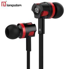 Langsdom JM26 Stereo Earphone Super Bass Headphones with microphone Gaming Headset