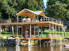 outdoor entertaining boat house design
